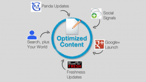 Focus on the concept of Content Optimization and Shares