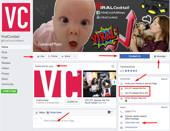 ViralCocktail-Facebook-Page